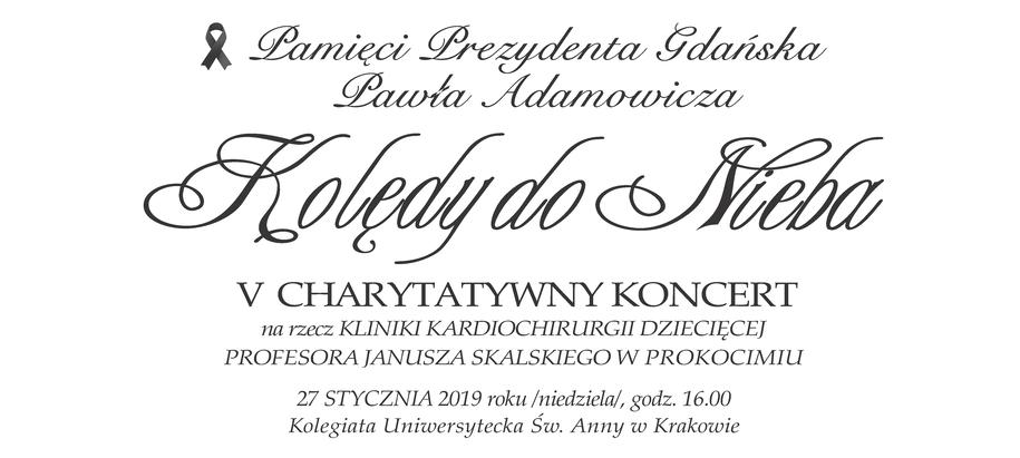 Koncert jest dedykowany zamordowanemu Prezydentowi Gdańska Pawłowi Adamowiczowi /Materiały prasowe