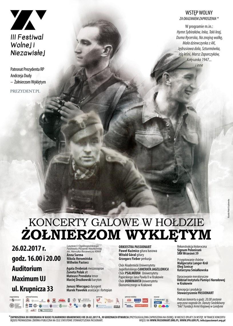 """Koncerty Galowe """"W Hołdzie Żołnierzom Wyklętym"""" /IPN"""