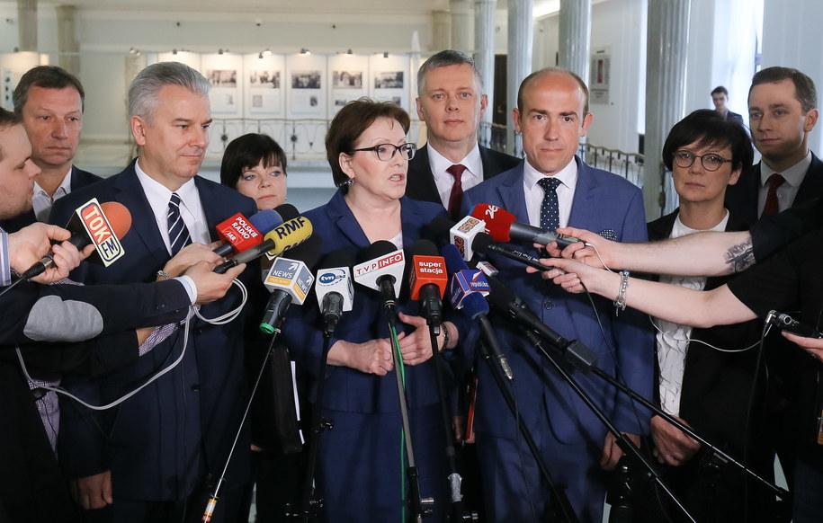 Konferencja byłej premier Ewa Kopacz /Paweł Supernak /PAP