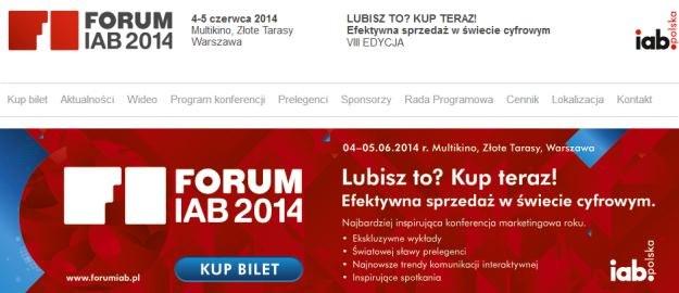 Konferencja Forum IAB 2014 /materiały prasowe