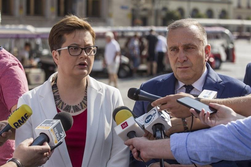 Konferencja Katarzyny Lubnauer i Grzegorza Schetyny /Tomasz Gola /East News
