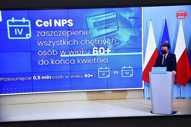 Konferencja Michała Dworczyka /Radek  Pietruszka /PAP