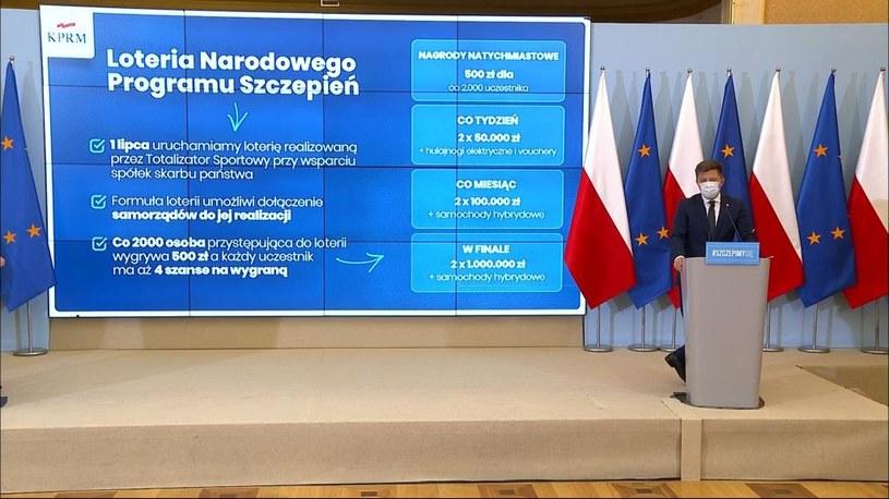 Konferencja Michała Dworczyka /Polsat News /