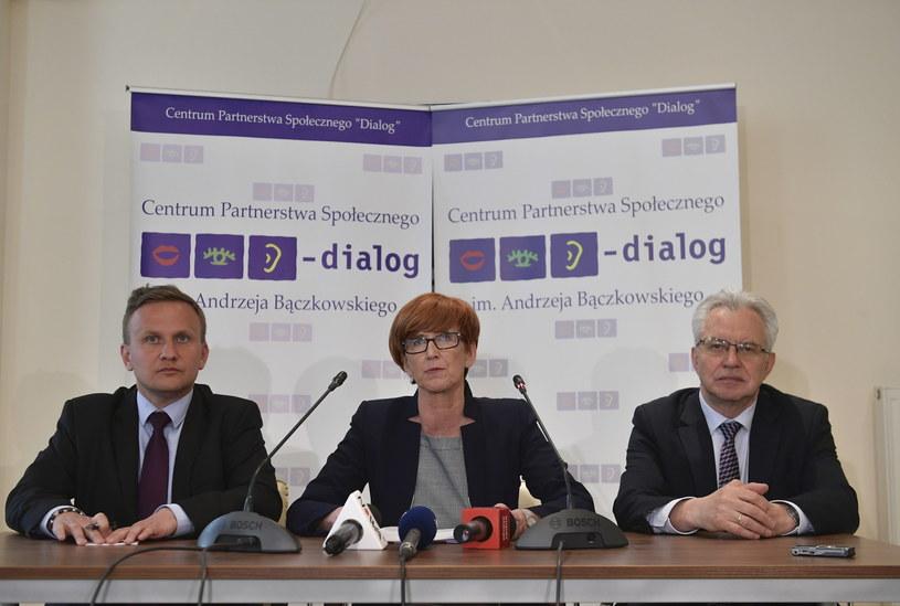 Konferencja minister Elżbiety Rafalskiej / Marcin Obara  /PAP