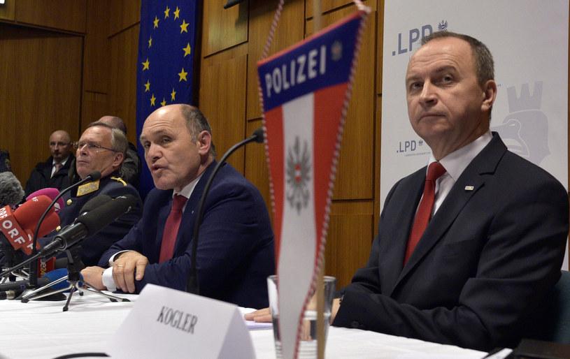 Konferencja ministra spraw wewnętrznych Austrii /AFP