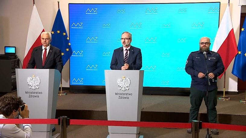 Konferencja ministra zdrowia po podpisaniu porozumienia z ratownikami medycznymi /Polsat News /Polsat News