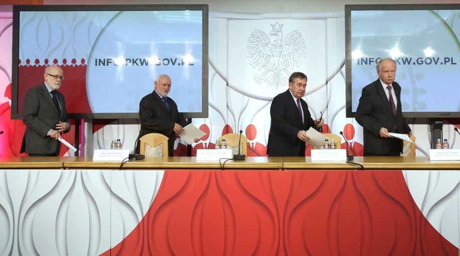 Konferencja Państwowej Komisji Wyborczej /Leszek Szymański /PAP