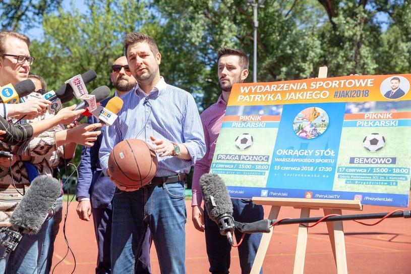 Konferencja Patryka Jakiego ws. sportu w Warszawie /Grzegorz Banaszak /Reporter