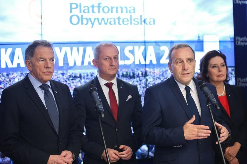 Konferencja PO /Rafał Guz /PAP