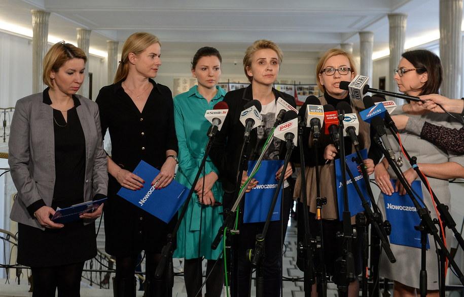Konferencja posłanek Nowoczesnej /Marcin Obara /PAP
