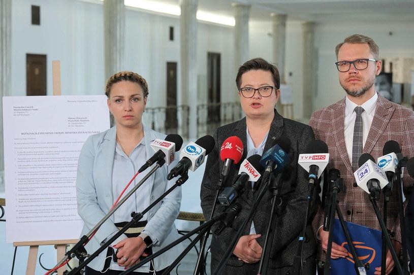 Konferencja posłów Koalicji Obywatelskiej /PAP/Paweł Supernak /PAP