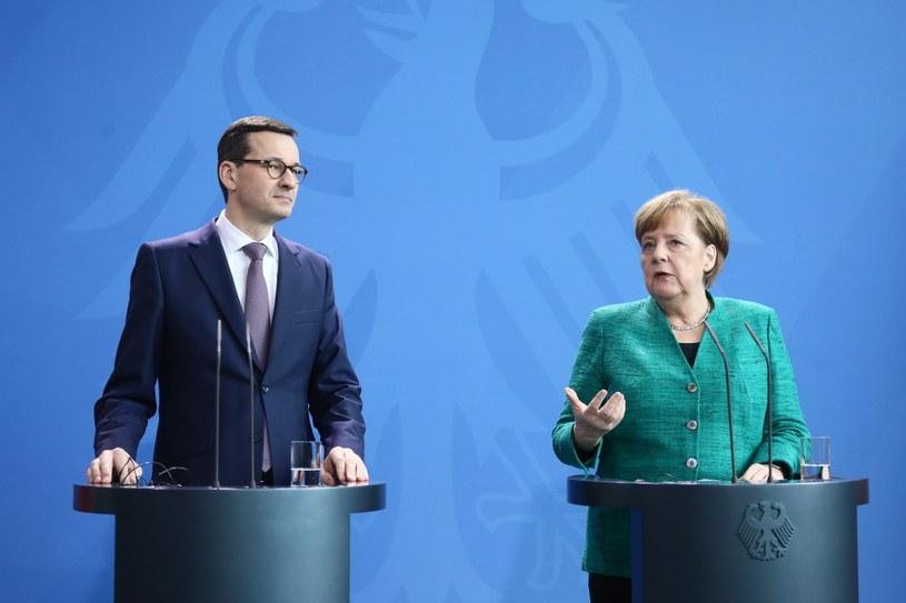 Konferencja prasowa Angeli Merkel i Mateusza Morawieckiego /Paweł Supernak /PAP