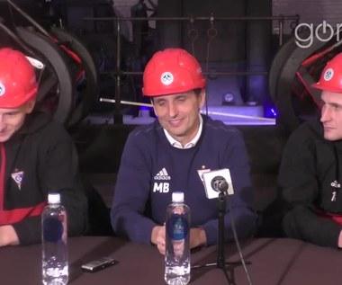 Konferencja prasowa Górnika Zabrze w zabytkowej kopalni Guido (wideo)