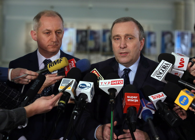 Konferencja prasowa Grzegorza Schetyny i Sławomira Neumanna /Tomasz Gzell /PAP
