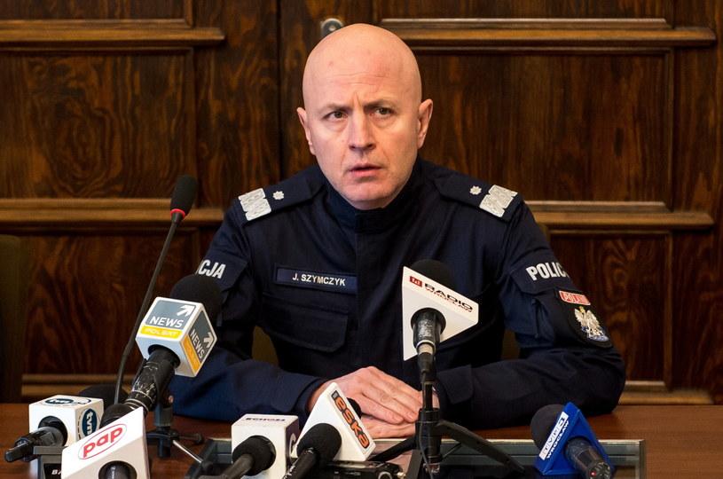 Konferencja prasowa Komendanta Głównego Policji /Maciej Kulczyński /PAP