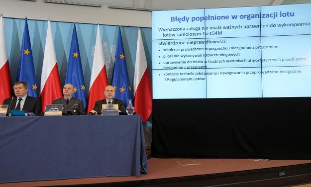 Konferencja prasowa komisji Millera / fot. P. Supernak /PAP
