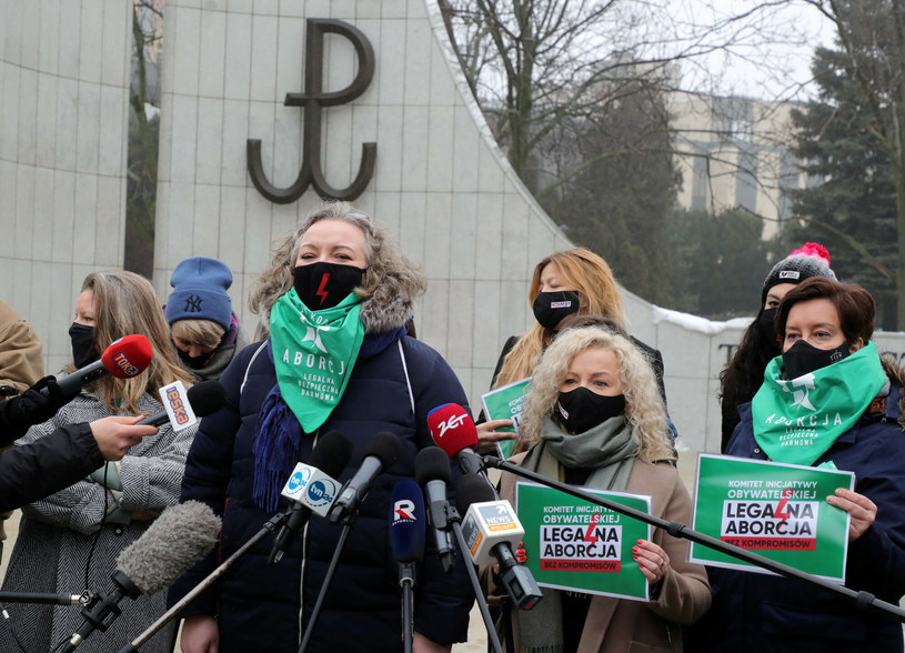 "Konferencja prasowa ""Komitetu Legalna Aborcja, Bez Kompromisów"" /Piotr Molecki/East News /East News"