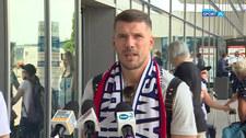 Konferencja prasowa Lukasa Podolskiego po przylocie do Polski (POLSAT SPORT) Wideo