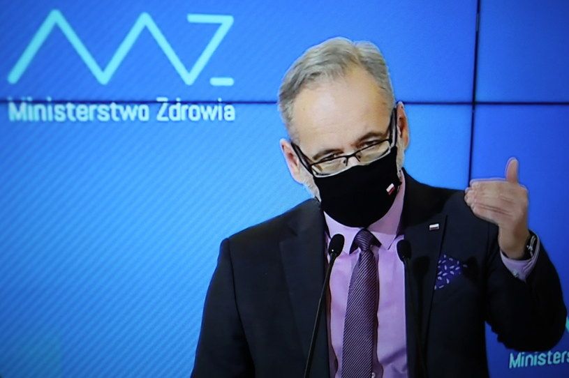 Konferencja prasowa ministra zdrowia Adama Niedzielskiego /Leszek Szymański /PAP