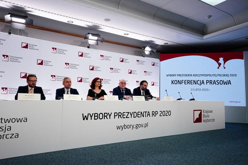 Konferencja prasowa Państwowej Komisji Wyborczej dzień po wyborach prezydenckich /Mateusz Marek /PAP