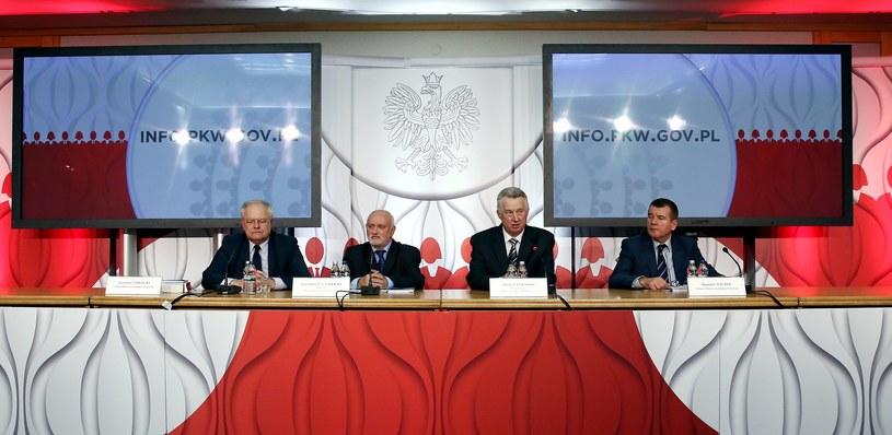 Konferencja prasowa Państwowej Komisji Wyborczej /Tomasz Gzell /PAP