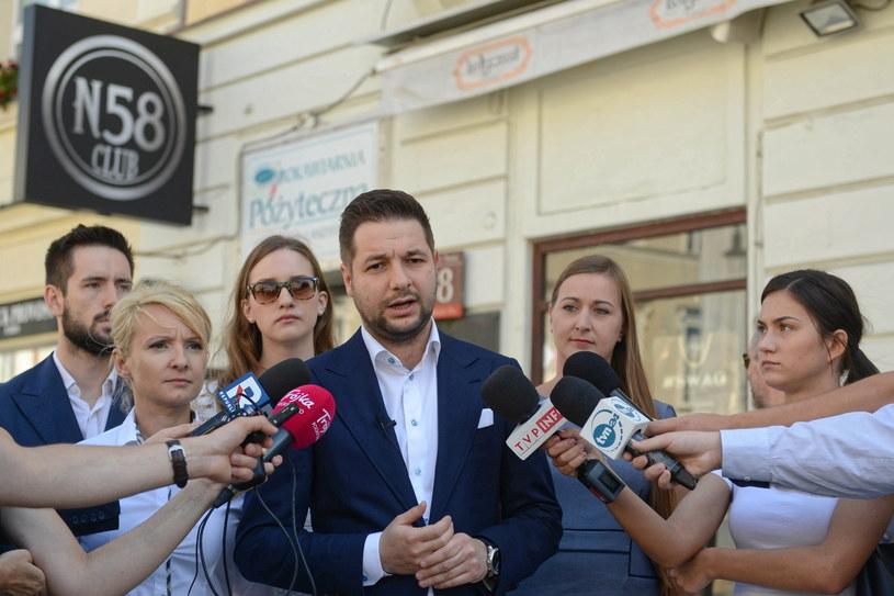 Konferencja prasowa Patryka Jakiego / Jakub Kamiński    /PAP