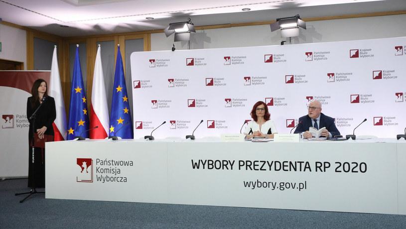 Konferencja prasowa PKW /Tomasz Jastrzebowski/REPORTER /Reporter