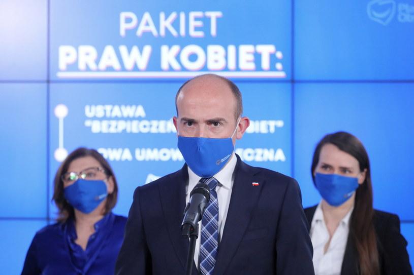 Konferencja prasowa Platformy Obywatelskiej /Paweł Supernak /PAP