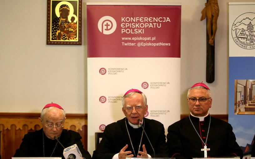 Konferencja prasowa po zakończeniu obrad KEP /Grzegorz Momot /PAP