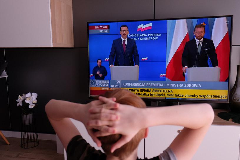 Konferencja prasowa premiera i ministra zdrowia /Paweł Krawczyk /INTERIA.PL