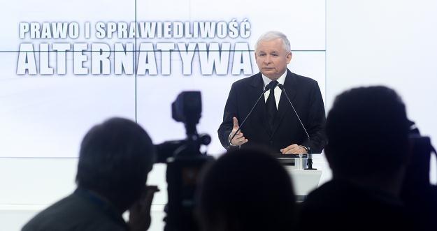 Konferencja prasowa prezesa PiS Jarosława Kaczyńskiego , fot. J. Kamiński /PAP