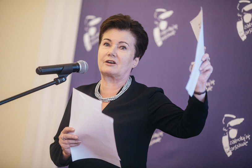 Konferencja prasowa prezydent Hanny Gronkiewicz-Waltz dotycząca działań Komisji weryfikacyjnej. /Maciej Stanik /Reporter