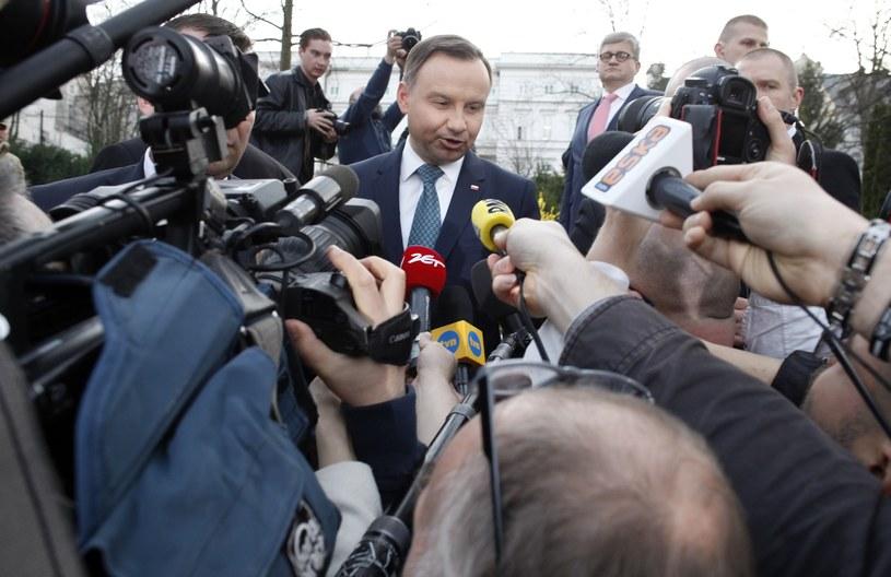 Konferencja prasowa prezydenta Dudy /Stefan Maszewski /Reporter