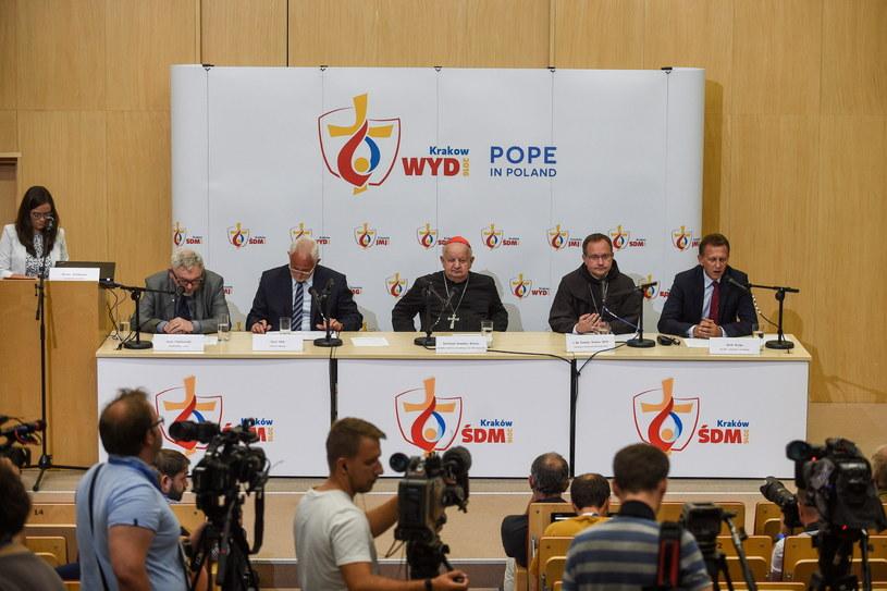 Konferencja prasowa przed rozpoczęciem ŚDM /Marcin Obara /PAP