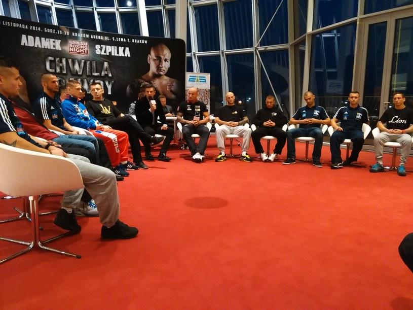 Konferencja prasowa przed sobotnią galą bokserską Polsat Boxing Night /Fot. Mateusz Lubiński /INTERIA.PL