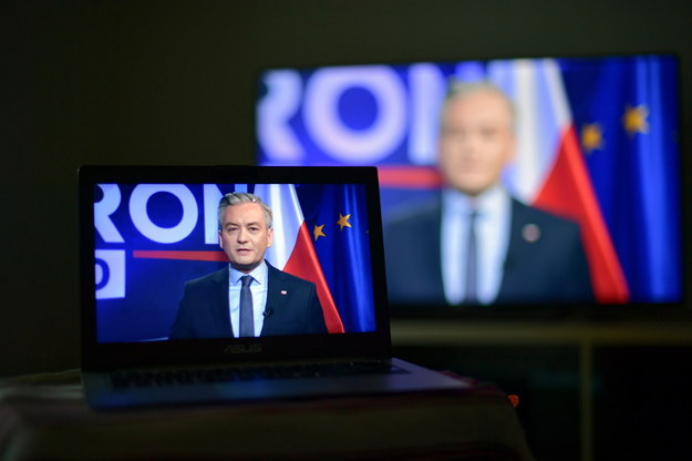 Konferencja prasowa Roberta Biedronia / Marcin Obara  /PAP