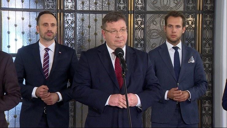 Konferencja prasowa Solidarnej Polski /Polsat News