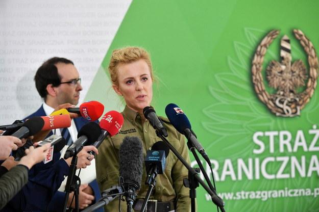 Konferencja prasowa Straży Granicznej /Piotr Nowak /PAP