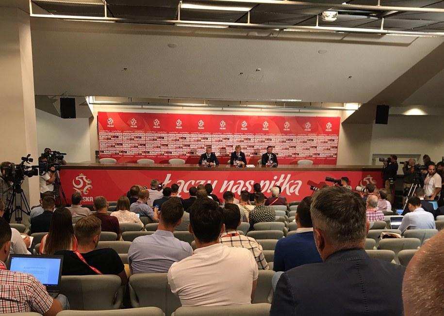 Konferencja prasowa trenera Brzęczka /Paweł Pawłowski /RMF FM