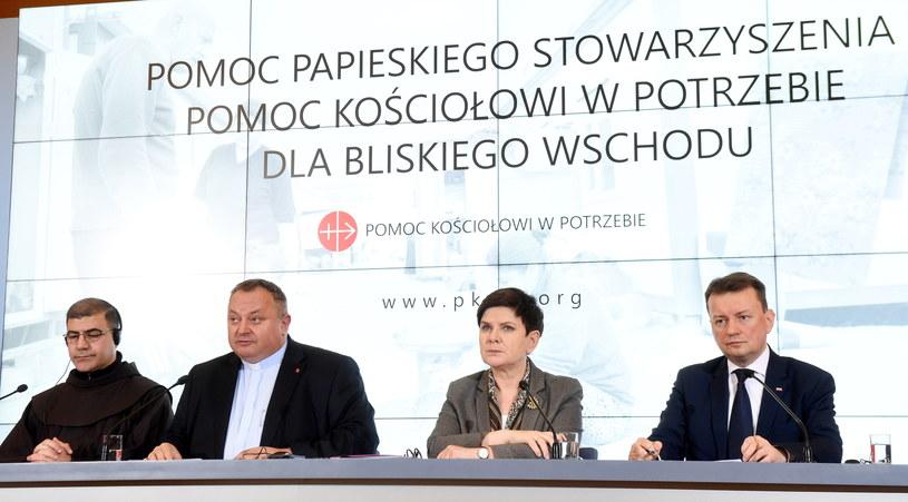 Konferencja prasowa w KPRM /Radek Pietruszka /PAP