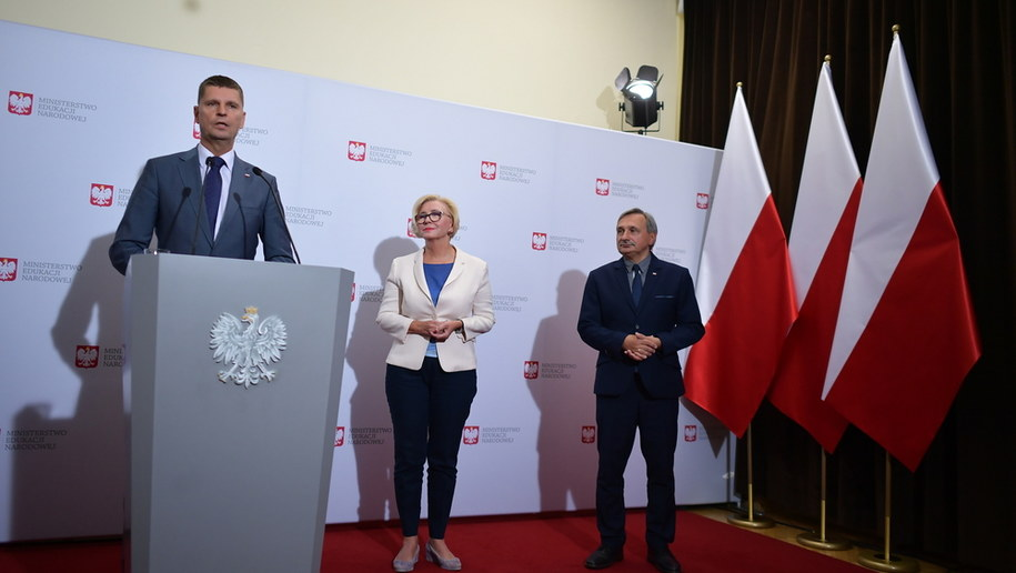 Konferencja prasowa w Ministerstwie Edukacji Narodowej / Marcin Obara  /PAP