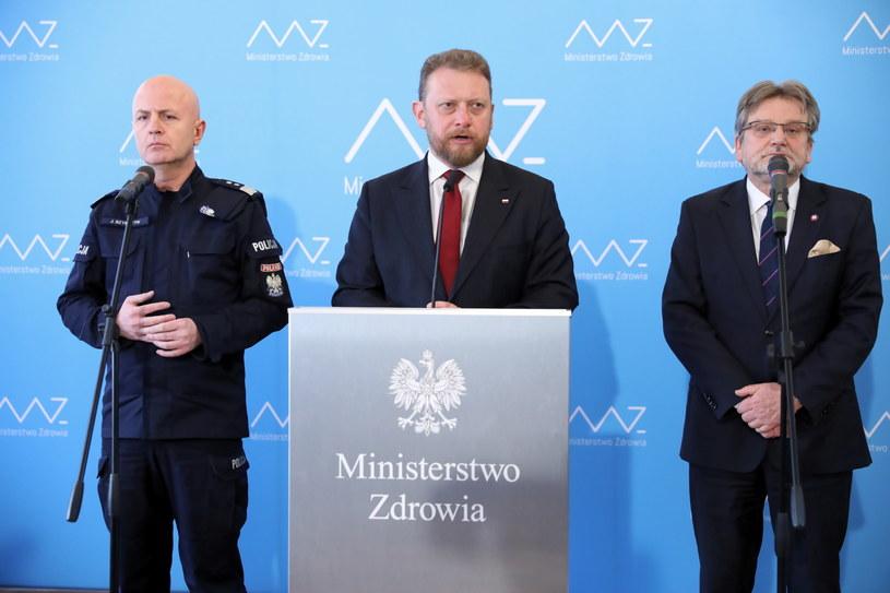 Konferencja prasowa w Ministerstwie Zdrowia w Warszawie / Leszek Szymański    /PAP