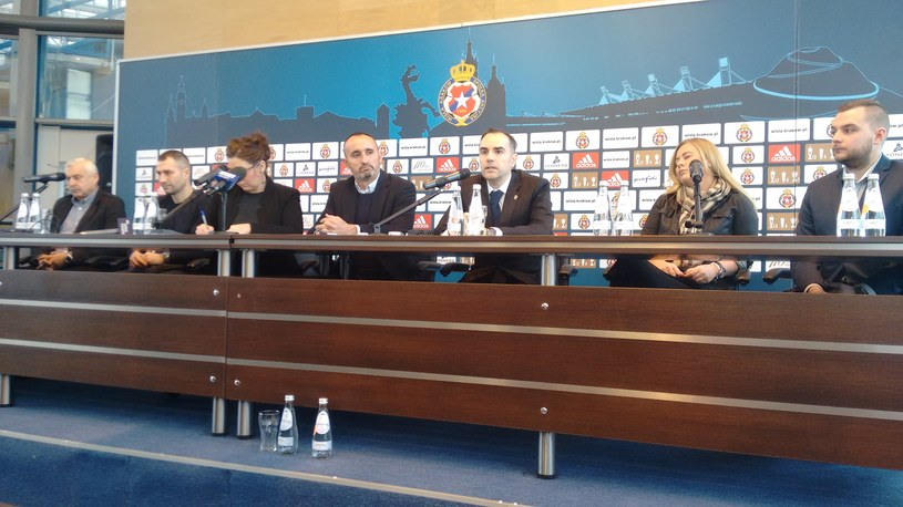 Konferencja prasowa Wisły Kraków /Adrianna Kmak /INTERIA.PL