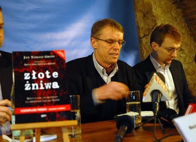"""Konferencja prasowa Wydawnictwa Znak przed premierą książki """"Złote żniwa"""", fot. M. Lasyk /Reporter"""