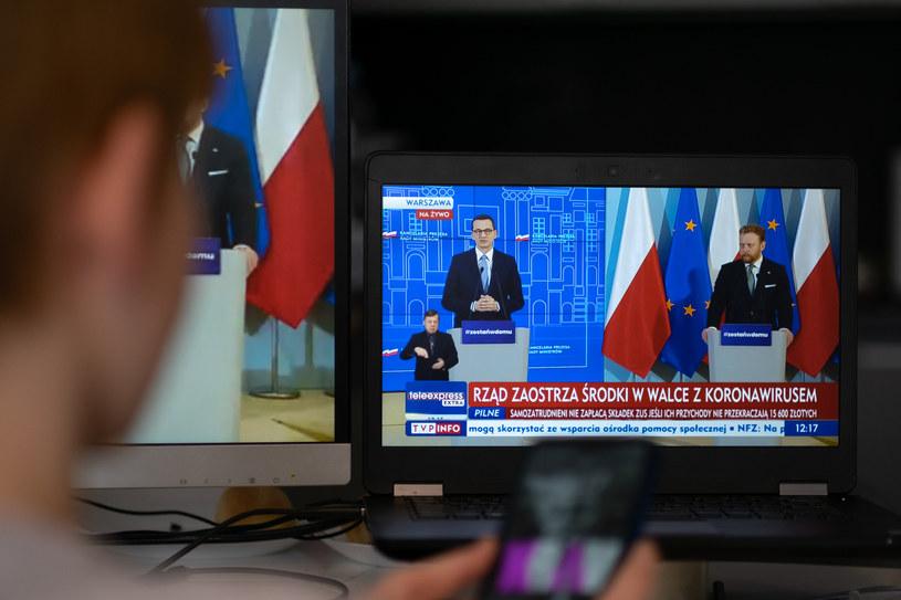 Konferencja premiera i ministra zdrowia /Paweł Krawczyk /INTERIA.PL