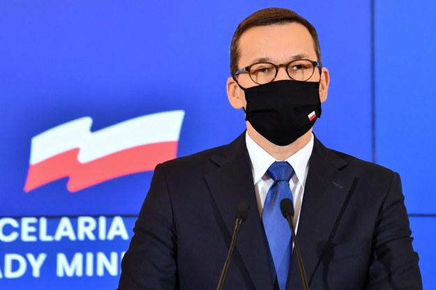 Konferencja premiera Mateusza Morawieckiego zaplanowana została po posiedzeniu Rządowego Zespołu Zarządzania Kryzysowego / Radek Pietruszka   /PAP