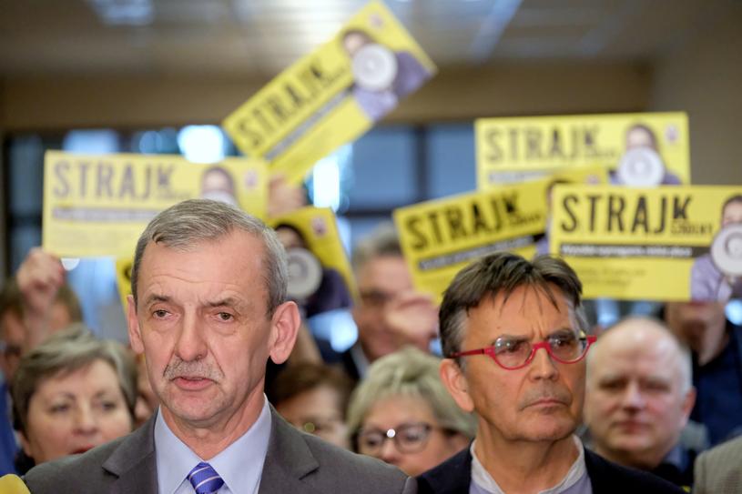 Konferencja prezesa ZNP dot. strajku nauczycieli /Mateusz Grochocki /East News