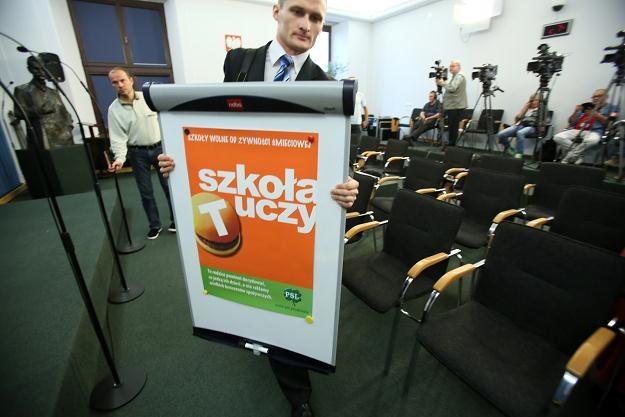 Konferencja PSL w sprawie niezdrowej żywności w szkołach /PAP