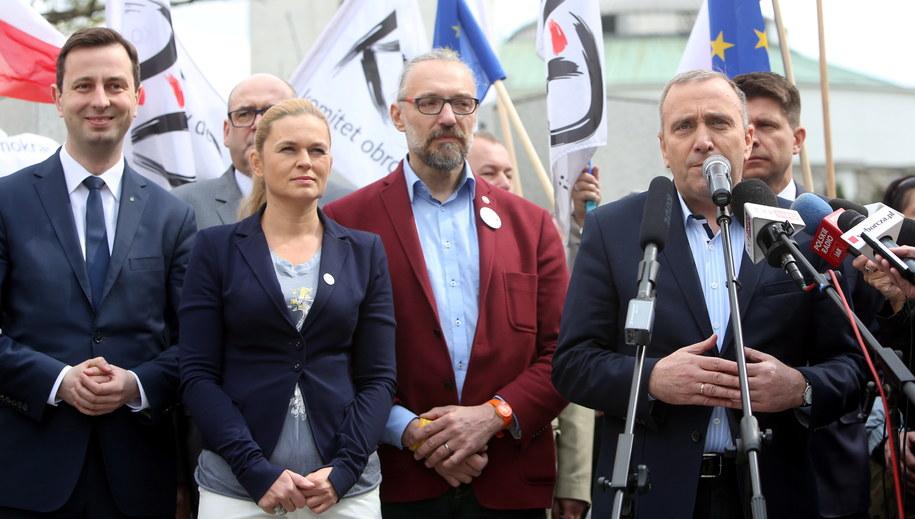 """Konferencja pt. """"Jesteśmy i będziemy w Europie"""" /Leszek Szymański /PAP"""
