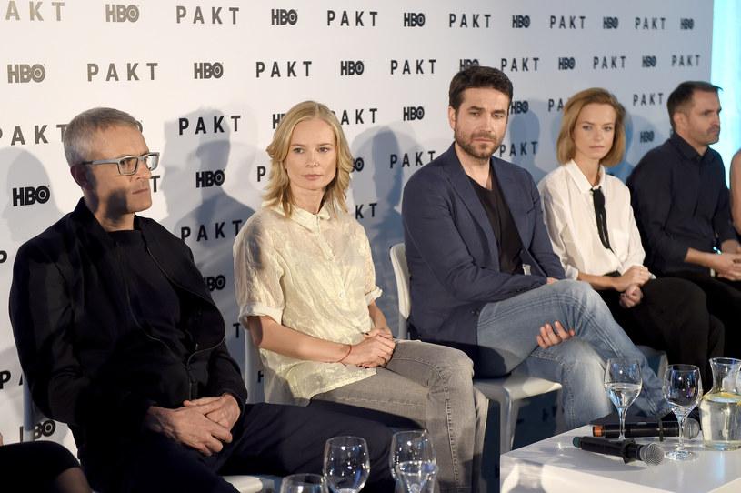 "Konferencja serialu ""Pakt"" /Podlewski /AKPA"